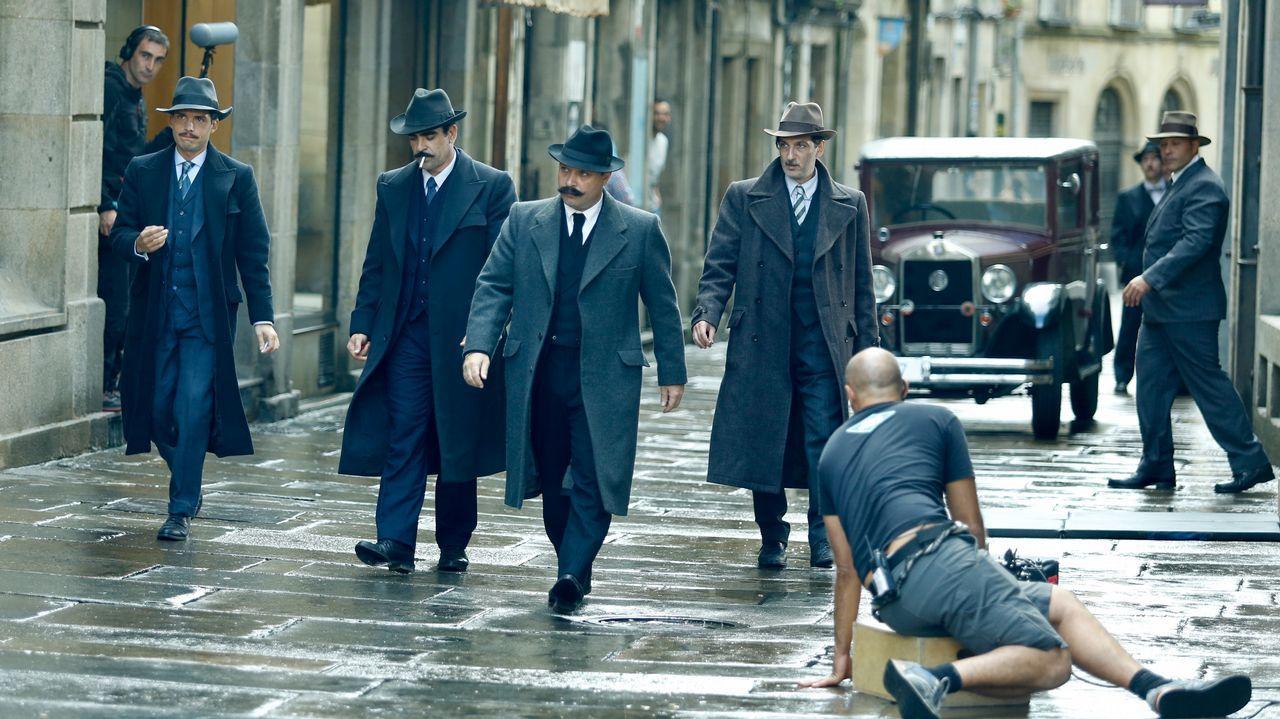 Escena del rodaje de la película